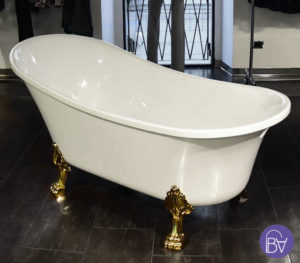 vasca piedini oro design